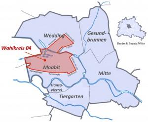 Bezirk Mitte Wahlkreis 4 Skizze